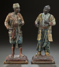 Sculpture, A PAIR OF VIENNESE COLD PAINTED BRONZE FIGURES OF MEN IN CHINESE AND ARAB DRESS. 20th century. 12 inches high (30.5 cm) (tal... (Total: 2 Items)