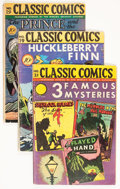 Golden Age (1938-1955):Classics Illustrated, Classic Comics Group (Elliott/Gilberton, 1940s) Condition: AverageVG.... (Total: 7 Comic Books)