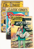 Golden Age (1938-1955):Classics Illustrated, Classic Comics Group (Gilberton, 1940s) Condition: Average GD+....(Total: 9 Comic Books)