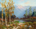 American:Regional, HERBERT SARTELLE (American, 1885-1955). California MountainGlow. Oil on canvas . 24 x 30 inches (61.0 x 76.2 cm). Signe...