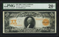 Large Size:Gold Certificates, Fr. 1182 $20 1906 Gold Certificate PMG Very Fine 20 Net.. ...