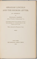 Books:Americana & American History, [Abraham Lincoln]. William E. Barton. LIMITED. Abraham Lincolnand the Hooker Letter: An Address. New York: Bowling ...