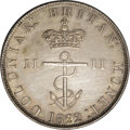 British West Indies, British West Indies: George IV Anchor Money Half Dollar 1822/1,...