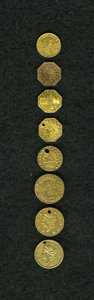 California Gold Charms, Double Quartet of California Gold Charms, Damaged Real Coins.... (Total: 8 items)