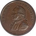 Colonials, Undated PENNY Washington Liberty And Security Penny, Corded Rim MS63 Brown PCGS....