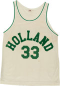 "Basketball Collectibles:Uniforms, 1986 ""Hoosiers"" Movie Worn Holland Jersey and Shorts...."