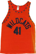 """Basketball Collectibles:Uniforms, 1986 """"Hoosiers"""" Movie Worn Wildcats Jersey and Shorts...."""