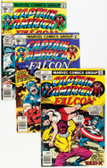 Modern Age (1980-Present):Superhero, Captain America #211-401 Near Complete Run and Falcon #1-4Miniseries Box Lot (Marvel, 1977-92)....