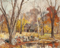 American:Regional, GEORGE CHEREPOV (Lithuanian/American, 1909-1987). November.Oil on canvas . 24 x 30 inches (61.0 x 76.2 cm). Signed lowe...
