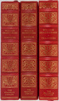 Books:Literature 1900-up, William Shakespeare. Group of Three. Franklin Library, 1975, 1978,1981. Shakespeare's works split into comedies, tragedies,...(Total: 3 Items)