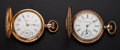 Timepieces:Pocket (post 1900), Hampden & F.S. Hubbard Hunter Case Pocket Watches. ... (Total:2 Items)
