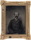 Photography:Tintypes, [Texas Rangers]. William Hickman Dunman, Jr., Half-Plate Tintype,Together with a CDV-Sized Tintype, circa 1870s.... (Total: 2Items)