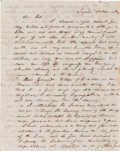 "Autographs:Military Figures, [John Coffee ""Jack"" Hays]. Captain Henry E. McCulloch Autograph Letter Signed to Jack Hays. ..."