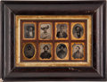Photography:Ambrotypes, Set of Eight 1/9th Plate Images of Texans, Some Armed, circa 1854 through 1860s....