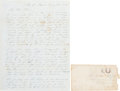 Militaria:Ephemera, [Mexican War]. Mexican War Soldier Autograph Letter Signed. ...