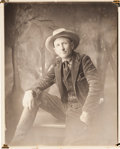 Photography, [Texas Rangers]. Captain W. L. Barler: Studio Portrait with a Copy of Life Magazine Featuring Barler on the Cover.... (Total: 2 Items)