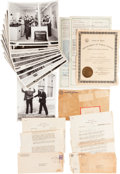 Miscellaneous:Ephemera, [Texas Rangers]. Group of Thirteen Photographs from the NewDepartment of Public Safety Training Facility with a PoliceTraini... (Total: 16 Items)