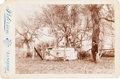 Photography:Cabinet Photos, [Mier Expedition]. Cabinet Card Featuring the Common Tomb Containing the Remains of Those Killed in the Dawson Massacre and th...