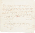 Militaria:Ephemera, [Mier Expedition]. William Fisher Discharge Signed for Texas RangerIsrael Canfield. ...