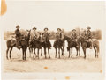 Photography, [Texas Rangers]. Photograph of Captain William L. Wright and Several Rangers, circa 1925....