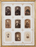 Photography:CDVs, Collection of Nine Photographs of United States Military Leaders of Texas, circa 1849 through 1860....