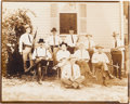 Photography, [Texas Rangers]. Photograph of Captain William M. Hanson and Members of Headquarters Company, circa 1919....