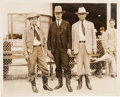 Photography, [Texas Rangers]. Photograph of Captain E. H. Hammond and Two Rangers. ...