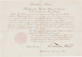Autographs:U.S. Presidents, [Robert S. Neighbors]. Franklin Pierce Indian Agent AppointmentSigned,...