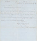 """Autographs:Military Figures, [John S. """"Rip"""" Ford]. Contemporary Copy of Captain John Martin's Autograph Letter Signed to """"Rip"""" Ford...."""