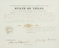 Autographs:Statesmen, [Mexican War]. James Pinckney Henderson and David G. BurnetMilitary Appointment Signed....