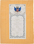 Militaria:Ephemera, [Mexican War]. Invitation and Dinner Menu in Honor of GeneralRobert E. Patterson....