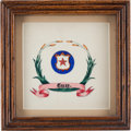 Art, Texas State Seal Pen-and-Ink Color Drawing, circa 1850s. ...