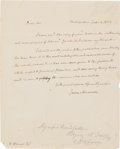 Autographs:U.S. Presidents, James Madison Autograph Letter Signed....