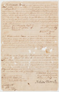 Autographs:Non-American, Horatio Nelson Royal Marines Enlistment Signed...