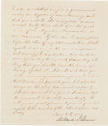 Autographs:U.S. Presidents, Millard Fillmore Letter Signed... (Total: 2 Items)