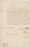 Autographs:Non-American, William III, King of England, Document Signed...