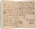 Autographs:Authors, Isaac Watts Autograph Letter Signed...