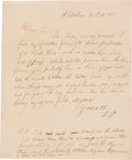 Autographs:U.S. Presidents, Franklin Pierce Autograph Letter Signed ...
