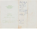 Autographs:Celebrities, Martin Luther King, Jr., Autograph Note....