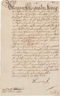 Autographs:Non-American, George I, King of Great Britain, Document Signed...