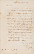Autographs:Military Figures, [Pontiac's Rebellion]. Thomas Gage Autograph Letter Signed...