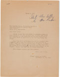 Autographs:Celebrities, Martin Luther King, Jr., Autograph Note with Related Letter....