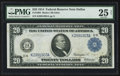 Large Size:Federal Reserve Notes, Fr. 1004 $20 1914 Federal Reserve Note PMG Very Fine 25 Net.. ...