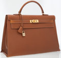 Luxury Accessories:Bags, Hermes 40cm Gold Epsom Leather Sellier Kelly Bag with GoldHardware. ...