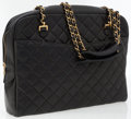 Luxury Accessories:Bags, Chanel Black Quilted Lambskin Leather Shoulder Bag with Gold ChainStrap. ...