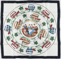 "Luxury Accessories:Accessories, Hermes 90cm White & Navy ""Jeu des Omnibus et Dames Blanches,""by Hugo Grygkar Silk Scarf. Excellent Condition . 36""Wi..."