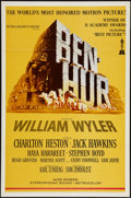 "Movie Posters:Academy Award Winners, Ben-Hur (MGM, R-1969). One Sheet (27"" X 41"") & Uncut Pressbook(16 Pages, 12"" X 17""). Academy Award Winners.. ... (Total: 2 Items)"