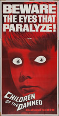 """Movie Posters:Science Fiction, Children of the Damned (MGM, 1963). Three Sheet (41"""" X 79"""").Science Fiction.. ..."""