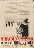 "Movie Posters:Drama, Miracle in Milan (ENIC, 1950). Italian 2 - Foglio (39"" X 55"").Drama.. ..."