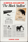 "Movie Posters:Adventure, The Black Stallion (United Artists, 1979). One Sheet (27"" X 41"")& Poster (40"" X 60"") Style A & Advance. Adventure.. ...(Total: 2 Items)"